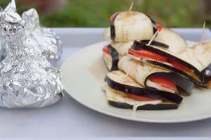 Aubergines et tomates grillées à la vinaigrette