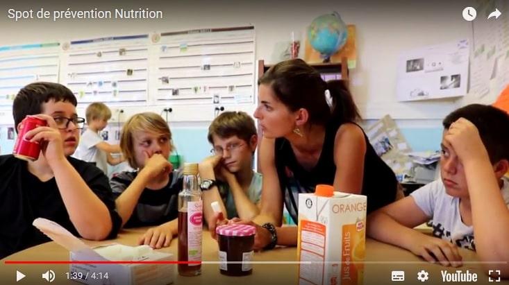 Spot de prévention sur la Nutrition