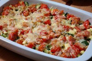 Lasagnes aux petits légumes et viande hachée