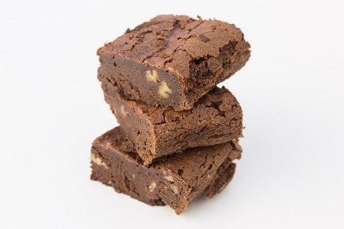 Brownies chocolat noix et compote de pomme