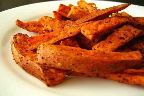 Fagots de frites de patates douces