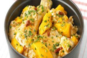 Wok de poulet à la mangue