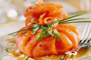 Aumônières de saumon à la clémentine et gambas