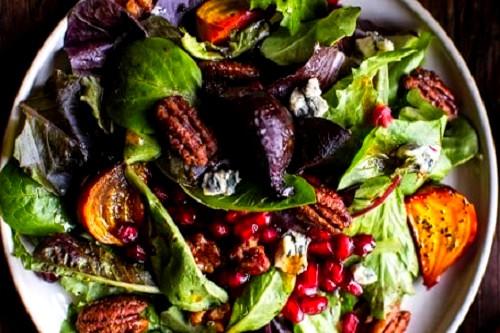 L'assiette du jardin : Macarons de Noël sur assiette fraîche du jardin
