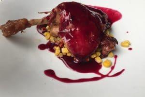 Cuisse de canard confite en habit rouge